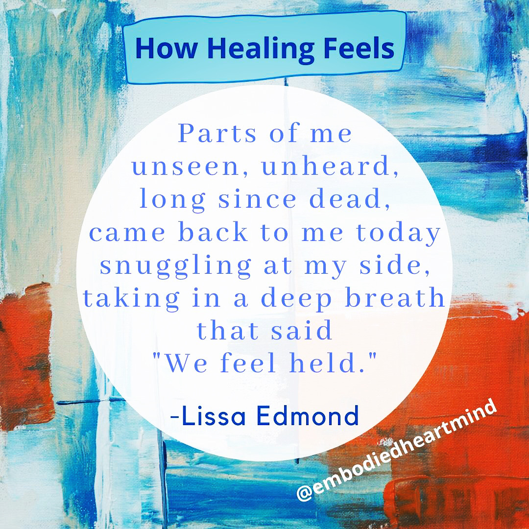 how healing feels poem filtered